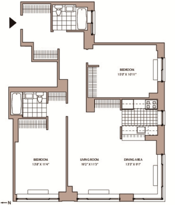 2 Bedrooms 2 Bathrooms Apartment for rent at 77 West 24th St in New York, NY