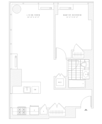 1 Bedroom 1 Bathroom Apartment for rent at 435 West 31st St in New York, NY