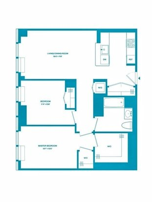 2 Bedrooms 2 Bathrooms Apartment for rent at 100 West 31st St in New York, NY