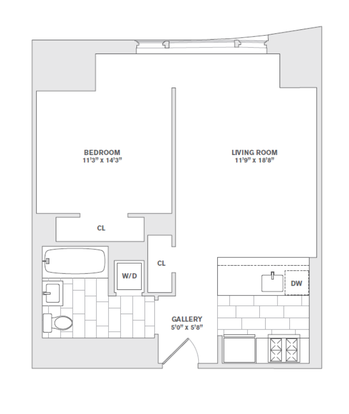 1 Bedroom 1 Bathroom Apartment for rent at 8 Spruce St in New York, NY