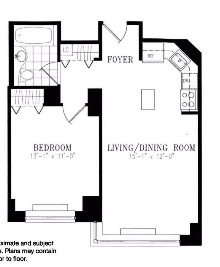 1 Bedroom 1 Bathroom Apartment for rent at 55 West 26th St in New York, NY