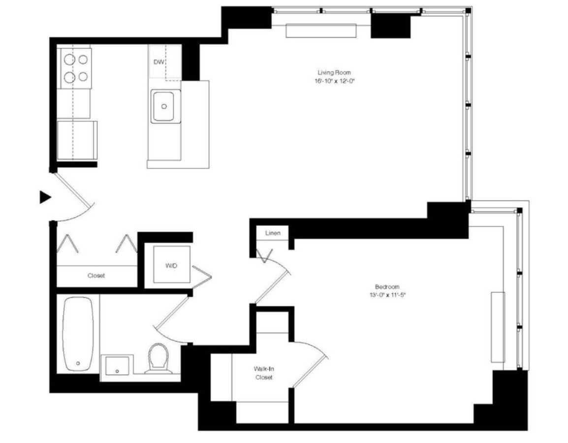1 Bedroom 1 Bathroom Apartment for rent at 55 West 25th St in New York, NY