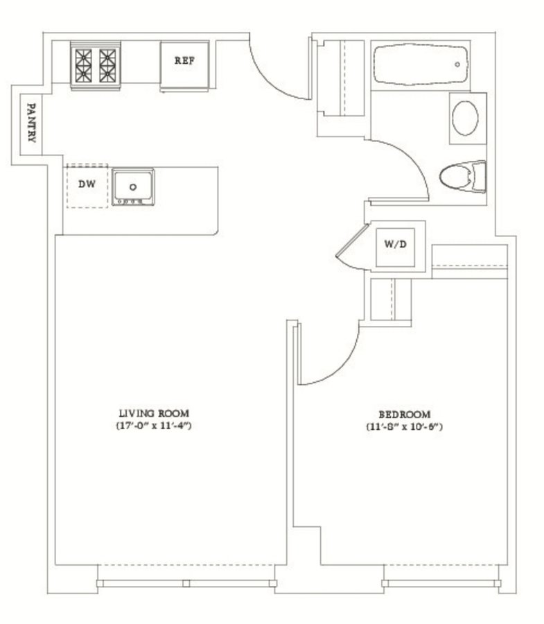 1 Bedroom 1 Bathroom Apartment for rent at Gotham West in New York, NY