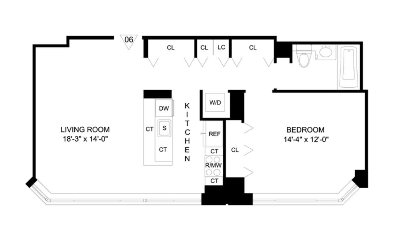 2 Bedrooms 2 Bathrooms Apartment for rent at 320 West 38th St in New York, NY
