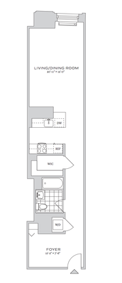 Studio 1 Bathroom Apartment for rent at 70 Pine Street in New York, NY