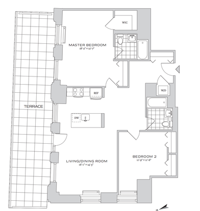 2 Bedrooms 2 Bathrooms Apartment for rent at 70 Pine Street in New York, NY