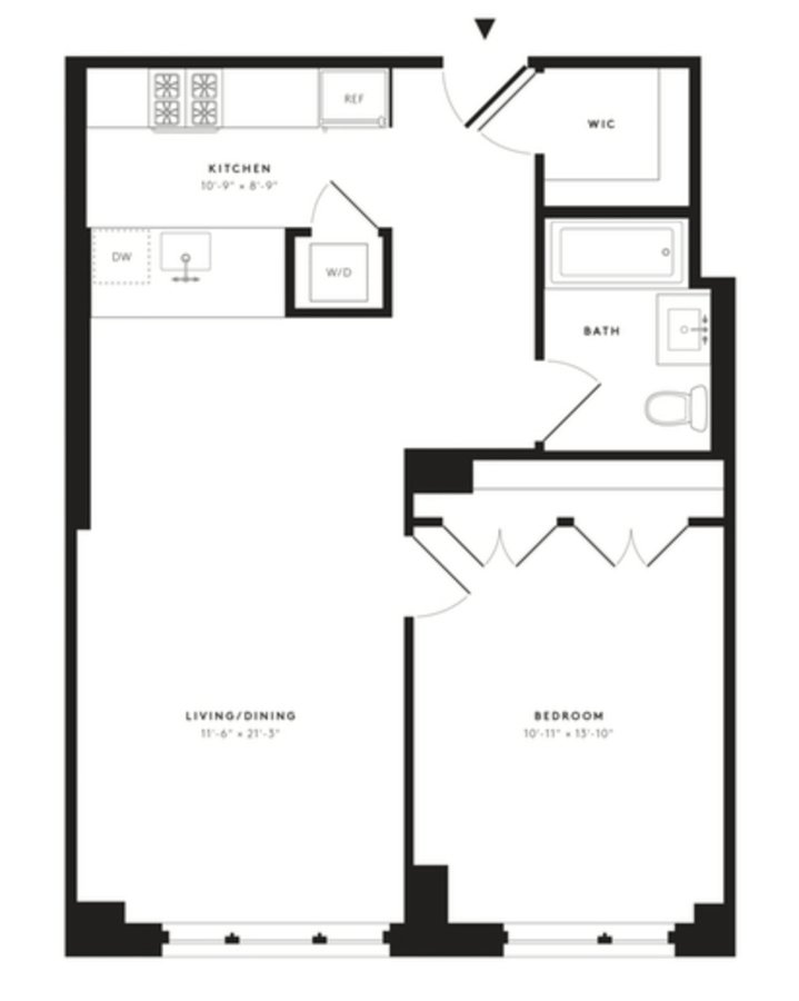 1 Bedroom 1 Bathroom Apartment for rent at 535w43 in New York, NY