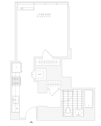 Studio 1 Bathroom Apartment for rent at 435 West 31st St in New York, NY