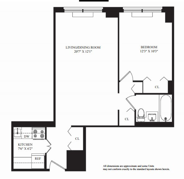 1 Bedroom 1 Bathroom Apartment for rent at 60 West 66th St in New York, NY