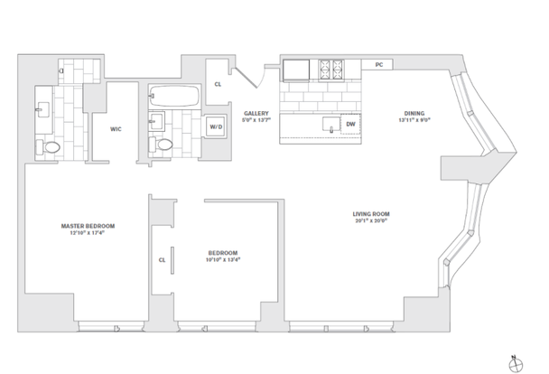 2 Bedrooms 2 Bathrooms Apartment for rent at 8 Spruce St in New York, NY