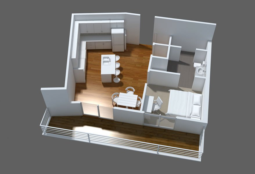 1 Bedroom 1 Bathroom Apartment for rent at The View On High in Columbus, OH