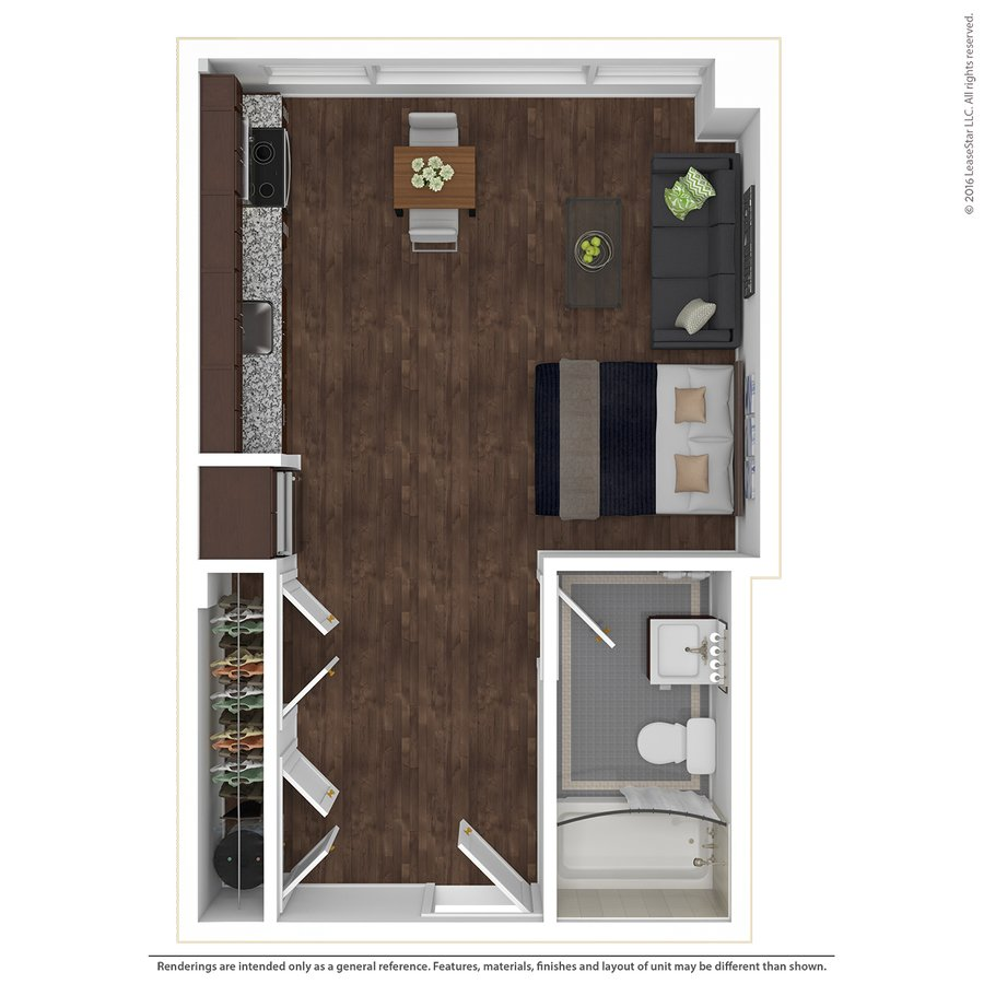 Studio 1 Bathroom Apartment for rent at East 9 At Pickwick Plaza in Kansas City, MO