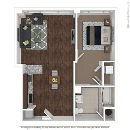 1 Bedroom 1 Bathroom Apartment for rent at East 9 At Pickwick Plaza in Kansas City, MO