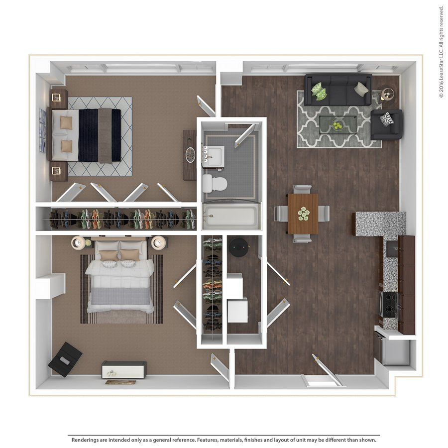 2 Bedrooms 1 Bathroom Apartment for rent at East 9 At Pickwick Plaza in Kansas City, MO