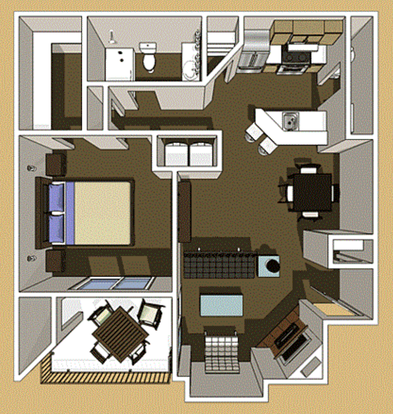 1 Bedroom 1 Bathroom Apartment for rent at The Boulders in Boulder, CO