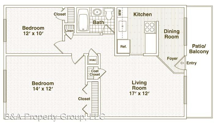2 Bedrooms 1 Bathroom Apartment for rent at 985 Grand Canyon Parkway in Hoffman Estates, IL