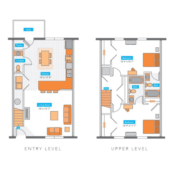 2 Bedrooms 2 Bathrooms Apartment for rent at Copper Beech Townhomes in Columbia, MO