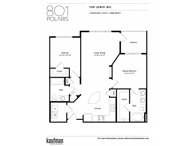 2 Bedrooms 2 Bathrooms Apartment for rent at 801 Polaris in Columbus, OH