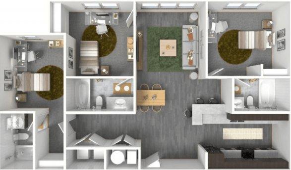 3 Bedrooms 3 Bathrooms Apartment for rent at The Bellamy At Dahlonega in Dahlonega, GA