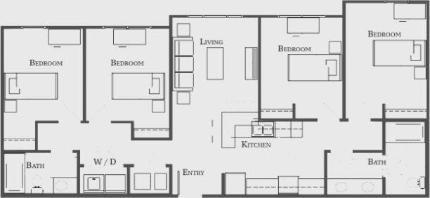 4 Bedrooms 2 Bathrooms Apartment for rent at The Bellamy At Dahlonega in Dahlonega, GA