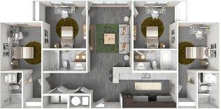 4 Bedrooms 4+ Bathrooms Apartment for rent at The Bellamy At Dahlonega in Dahlonega, GA