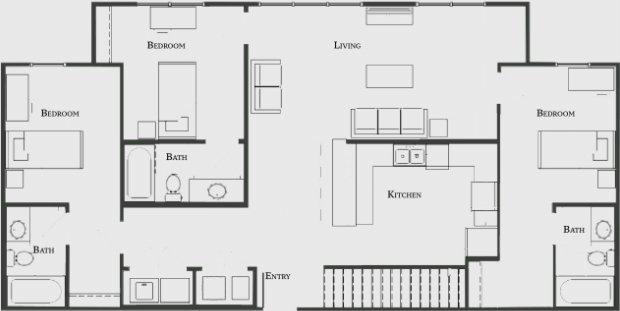 5 Bedrooms 4+ Bathrooms Apartment for rent at The Bellamy At Dahlonega in Dahlonega, GA