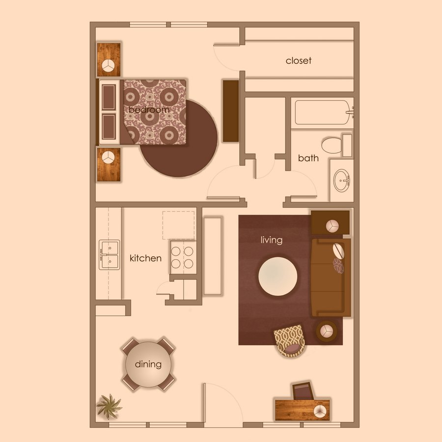 1 Bedroom 1 Bathroom Apartment for rent at Volume Apartments in Austin, TX