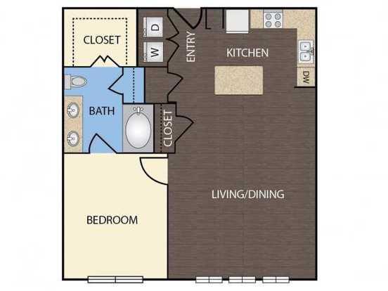 1 Bedroom 1 Bathroom Apartment for rent at 1111 Austin Highway in San Antonio, TX