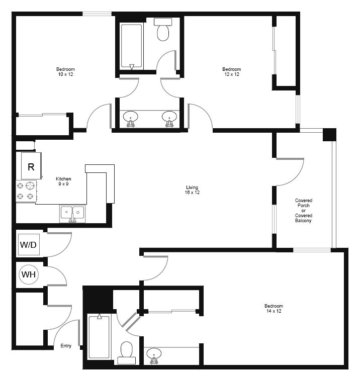 3 Bedrooms 2 Bathrooms Apartment for rent at Connection in Austin, TX