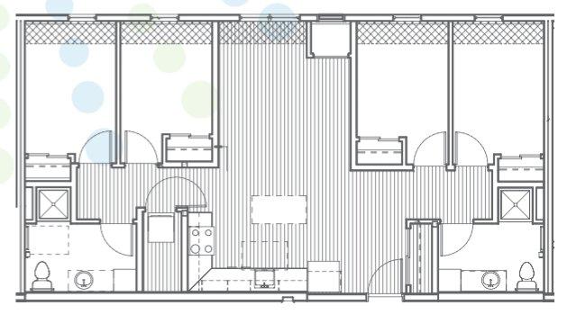 4 Bedrooms 2 Bathrooms Apartment for rent at Radius @ 15th in Minneapolis, MN