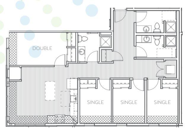4 Bedrooms 3 Bathrooms Apartment for rent at Radius @ 15th in Minneapolis, MN