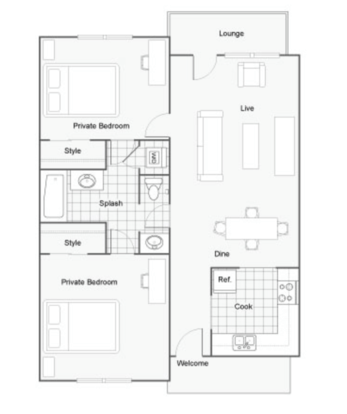 2 Bedrooms 1 Bathroom Apartment for rent at Dwell Tallahassee in Tallahassee, FL