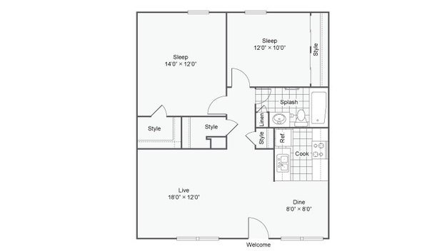 2 Bedrooms 2 Bathrooms Apartment for rent at The Hub At Baton Rouge in Baton Rouge, LA