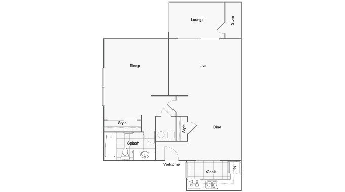 1 Bedroom 1 Bathroom Apartment for rent at The Social Tallahassee in Tallahassee, FL