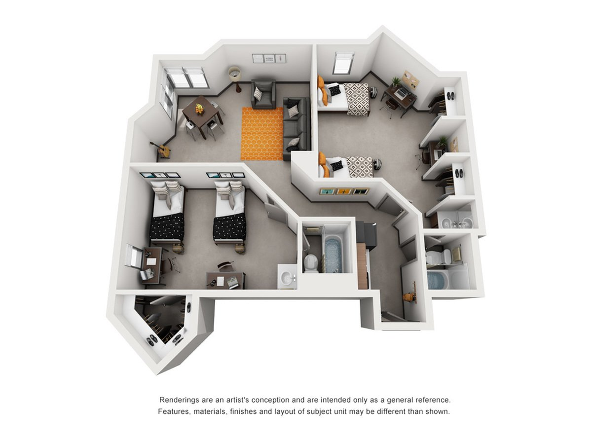 2 Bedrooms 2 Bathrooms Apartment for rent at Dobie Twenty21 in Austin, TX