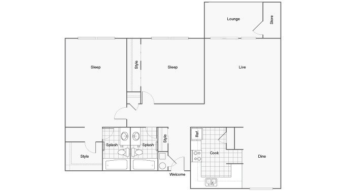 2 Bedrooms 2 Bathrooms Apartment for rent at The Social Tallahassee in Tallahassee, FL