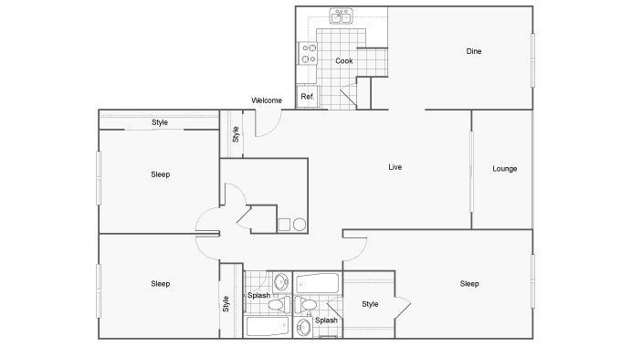 3 Bedrooms 2 Bathrooms Apartment for rent at The Social Tallahassee in Tallahassee, FL