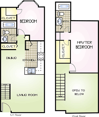 2 Bedrooms 2 Bathrooms Apartment for rent at Arlington Square & Wisteria Downs Apartments in Gainesville, FL