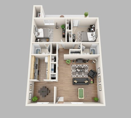2 Bedrooms 2 Bathrooms Apartment for rent at Lux13 Apartments in Gainesville, FL