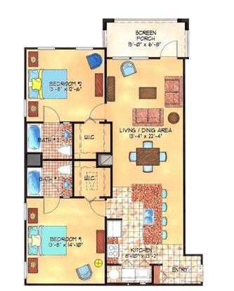 2 Bedrooms 2 Bathrooms Apartment for rent at The Enclave Apartments in Gainesville, FL
