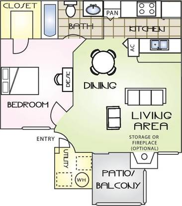 1 Bedroom 1 Bathroom Apartment for rent at The Polos in Gainesville, FL