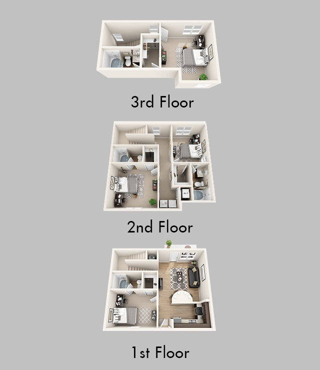 4 Bedrooms 3 Bathrooms Apartment for rent at Lux13 Apartments in Gainesville, FL