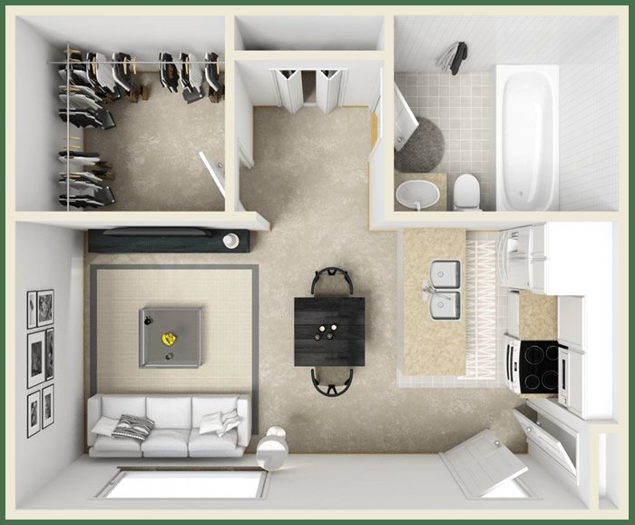 Studio 1 Bathroom Apartment for rent at Pinetree Gardens Apartments in Gainesville, FL