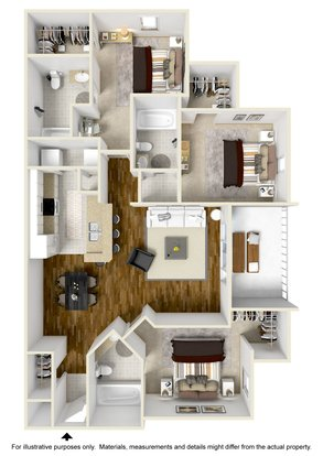 3 Bedrooms 3 Bathrooms Apartment for rent at West10 in Tallahassee, FL