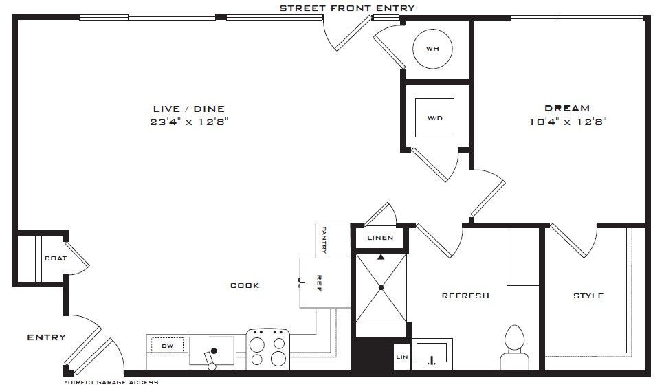 1 Bedroom 1 Bathroom Apartment for rent at Encore Evans Station Apartments in Denver, CO