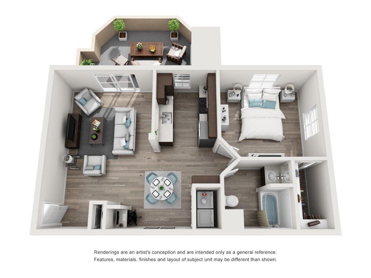 1 Bedroom 1 Bathroom Apartment for rent at Tuscany Ridge in Peoria, AZ