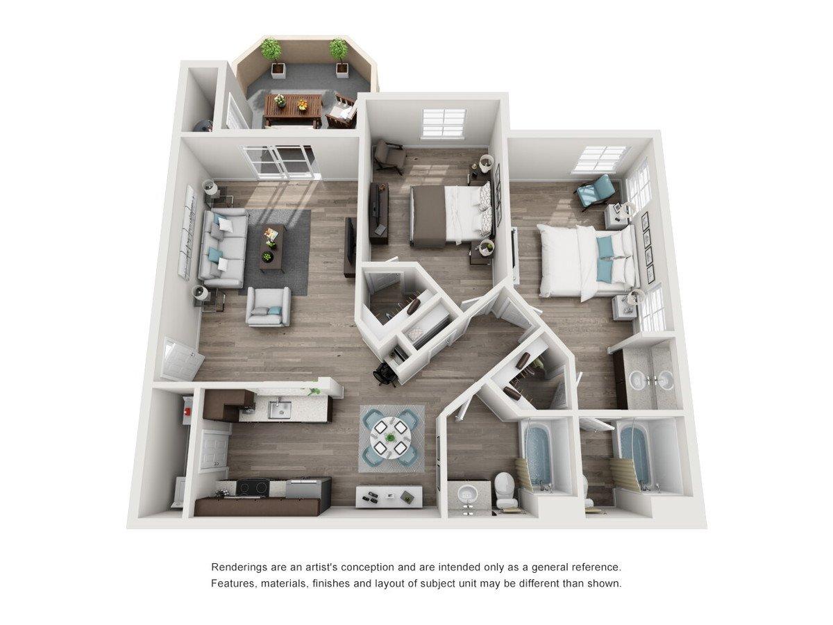 2 Bedrooms 2 Bathrooms Apartment for rent at Tuscany Ridge in Peoria, AZ
