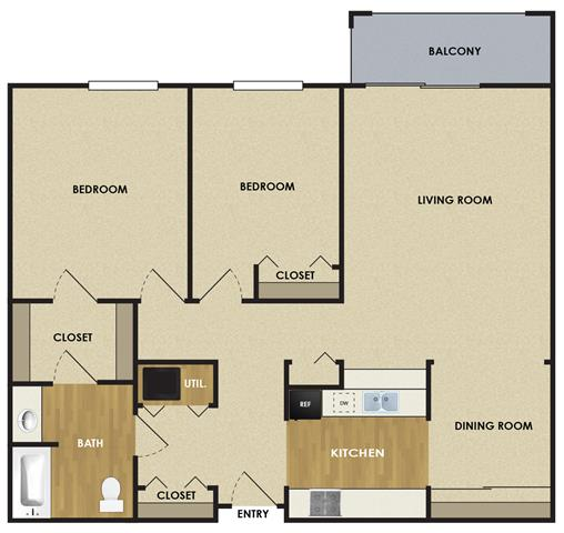 2 Bedrooms 1 Bathroom Apartment for rent at The Woodlands Of Minnetonka in Minnetonka, MN