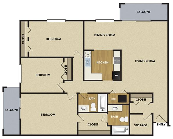 3 Bedrooms 2 Bathrooms Apartment for rent at The Woodlands Of Minnetonka in Minnetonka, MN