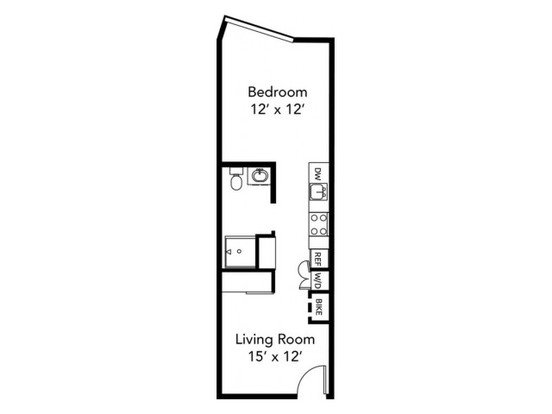 Studio 1 Bathroom Apartment for rent at The Century At North Cook in Portland, OR